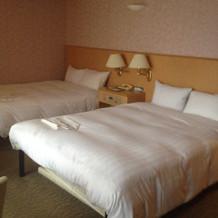泊まった部屋のベッド