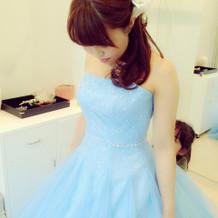 ドレス試着!