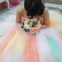 カラードレス試着!