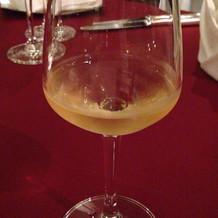 ワインではなく白ぶどうのジュース