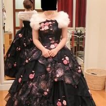 着用した色ドレス2