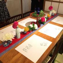 ゲストテーブル。お花が最高。