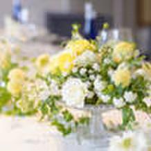 テーブルのお花も素敵。
