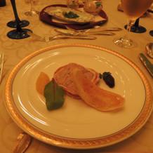 洋食の前菜の豚肉のパテです。