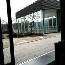 控え室からの風景