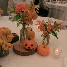 かぼちゃを置いてハロウィン風に。