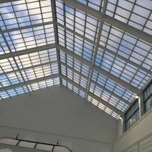 待ち合い室の天井