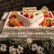 素敵なケーキをご準備いただきました