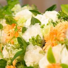 高砂テーブルのお花