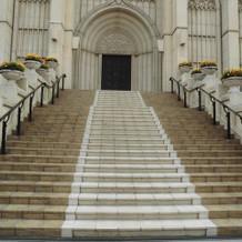 フラワーシャワー用の大階段