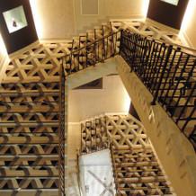 式場の螺旋階段