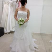 本番で着用したウェディングドレス