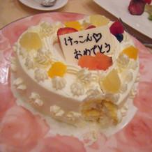 友人卓のみんなでデコったケーキ。