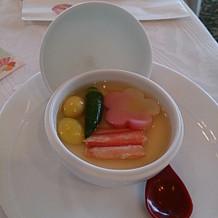 和食の方の茶碗蒸しです。 具沢山!!