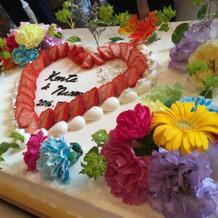 二次会のケーキ