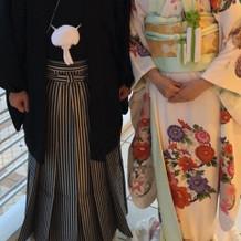 白引き振袖、紋服