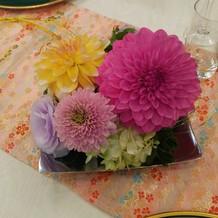 テーブルのお花例