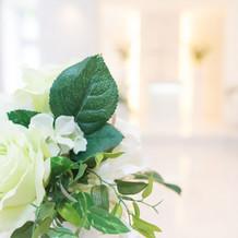造花とは思えない装飾花