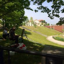 目の前の素敵な公園とコルトーナ