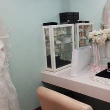 お化粧室です。