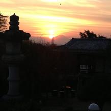 富士山の夕焼けの写真