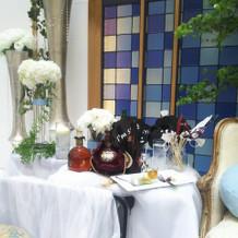 新郎側サイドテーブル