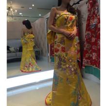着物地のドレス