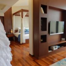 併設のヴィラの部屋。