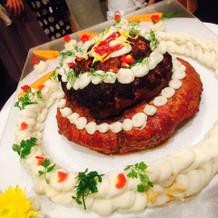 ハンバーグケーキ