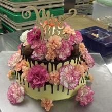 オーダー通り作って頂いたケーキ