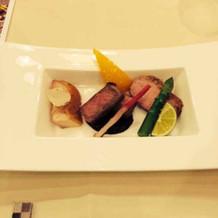 3種類のお肉のメイン どれも美味しかった