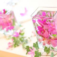 高砂席(テーブル装花)