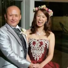 二次会新郎、新婦、花冠