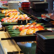 寿司バーのお寿司です。