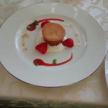 デザートは、甘すぎず美味しかったです。