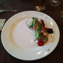 海の幸と色彩野菜のマリネ