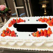 本番の時のウェディングケーキ