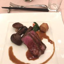 とても好評だった肉料理。