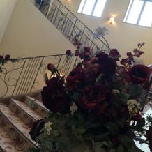階段の所からかわいい