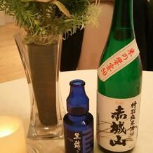 日本酒にもこだわりが。
