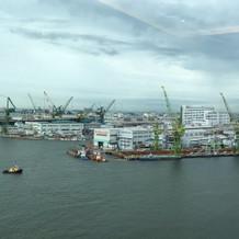 神戸らしい港町を見ることができます。