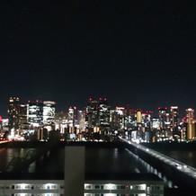 屋上チャペルから見た夜景