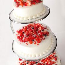 生ウェディングケーキ_ブラン