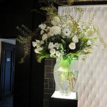 高砂横の装花(別料金だそうです)