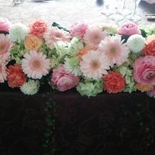 お花も可愛らしく飾ってありました