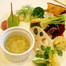 有機野菜のバーニャカウダ。
