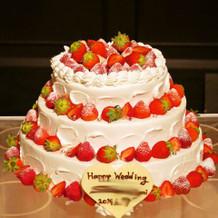 イチゴのショートケーキ。