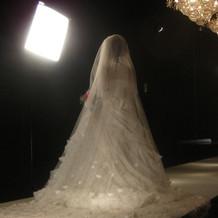 前撮りにて、ウェディングドレス