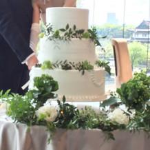 ケーキも会場の雰囲気にあってた