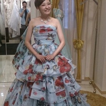 綺麗なドレスでした。